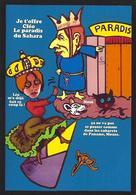 CPM Sucre Satirique Caricature Algérie Jacques LEBAUDY Empereur Du Sahara Sugar Non Circulé Cléo De Mérode - Satirical