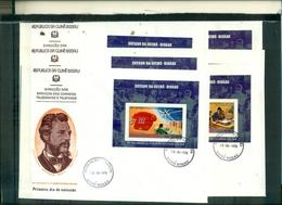 GUINEA BISSAU  100 PREMIERE LIAISON TELEPHONIQUE 6 BF DE LUXE SUR 6 FDC A PARTIR DE 3.50 EUROS - Aitutaki