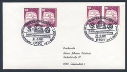 Deutschland Germany 1981 Brief Cover - S-Bahn Eröfnnungsveranstaltung Von Isartalbahn Zur S-Banh-Linie/ Suburban Railway - Trains