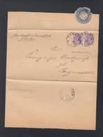 Dt. Reich Brief 1888 Hanau Langenselbold Doppelverwendung - Germany
