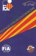 TESSERA ASSOCIATIVA FEDERACIO CATALANA D' AUTOMOBILISME - Trading Cards
