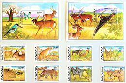 # Tanzania 1991**Mi.884-93 Animals From National Parks , MNH [25;1] - Sellos
