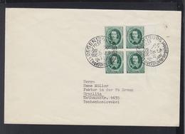Dt. Reich 4er Block Auf Brief 1937 Sonderstempel Regensburg - Brieven En Documenten