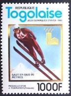 Togo 1980** Mi.1510A Olympic Games,Ski Jumping: J.Törmänen MNH - Zomer 1980: Moskou