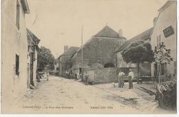 CHENEVREY  -  La Rue Des Granges  (café-restaurant) - Autres Communes