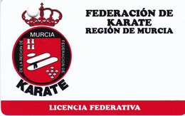 TESSERA ASSOCIATIVA FEDERACIO DE KARATE REGION DE MURCIA - Artes Marciales