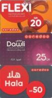 Qatar Hala Q-Tel Prepaid Phonecard, 3-Card - Qatar