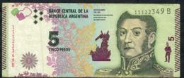 ARGENTINA P359 5 PESOS 2015 Serie B Signature 85 AVF NO P.h. - Argentina