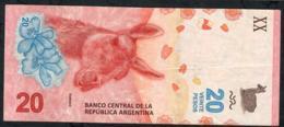 ARGENTINA P361  20 PESOS 2017 Serie A Signature 87   VF NO P.h. - Argentina