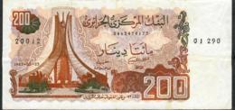ALGERIA P135b 200 DINARS 1983 Signature 7   VF NO P.h. - Argelia