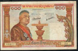LAOS P6 100 KIP 1957  VF 7 P.h. - Laos