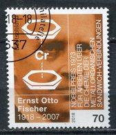 """Germany,Allemagne 2018 Mi.Nr.3420 """"Ernst Otto Fischer,,Nobelpreisträger Chemie """"1 Wert Used - Chemistry"""
