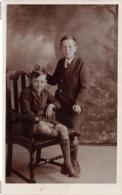 JOSEPH & WILLIAM ALBERT BLACKBURN ~ A VINTAGE RP POSTCARD OF TWO BOYS #9A27 - Portraits