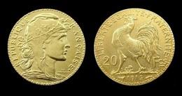 COPIE - 1 Pièce Plaquée OR ( GOLD Plated Coin ) - France - 20 Francs Marianne Coq 1914 - France