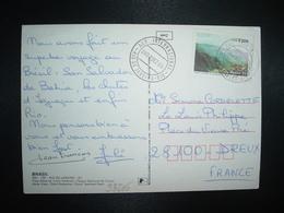 CP Pour La FRANCE TP DA SERRA 85 OBL.7 DEZ 85 RIO DE JANEIRO RIO AER. INTERNACIONAL - Brazilië