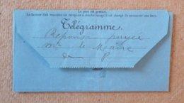 Télégramme Pelissanne Bouches Du Rhône 1899 - Telegraph And Telephone