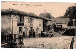 LOUPPY SUR LOISON CAFE GAVARD ANCIEN MOULIN AUTOMOBILE TRES ANIMEE - Francia