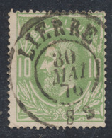 "émission 1869 - N°30 Obl Double Cercle ""Lierre"" (1876). TB - 1869-1883 Leopold II."