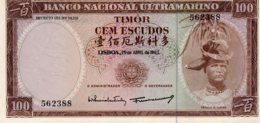 TIMOR     100 ESCUDOS  25/04/1963   Régulo D. Aleixo         BELA - Portogallo