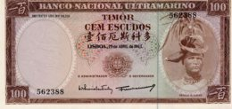 TIMOR     100 ESCUDOS  25/04/1963   Régulo D. Aleixo         BELA - Portugal