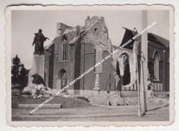 FOTO ERTVELDE - DE KERK GEDYNAMITEERD DEN 24 MEI 1940 / TWEEDE WERELDOORLOG - Evergem