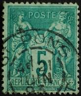 -Sage N°75 Type Ll O ( CAD ) ST PONS 21 JUIN 1893. - 1876-1898 Sage (Type II)