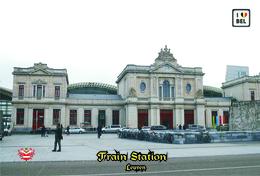 Set 8 Cartes Postales, Transport, Belgium, Leuven, Train Station - Bahnhöfe Ohne Züge