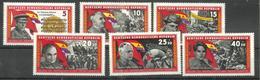 """DDR 1196-1201 """"6 Briefmarken Zu Helden Des Antifasch. Freiheitskampfes, Satz Kpl."""" Postfrisch Mi.-Preis 3,50 - [6] République Démocratique"""