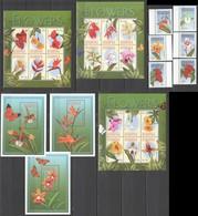 X449 ANTIGUA & BARBUDA NATURE FLORA FLOWERS !!! 3BL+3KB+1SET MNH - Plants