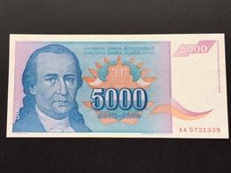 YOUGOSLOVIA P141 5000 DINARA 1994 UNC - Joegoslavië