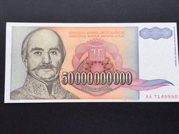 YOUGOSLOVIA P136 50000000000 DINARA 1993 UNC - Joegoslavië