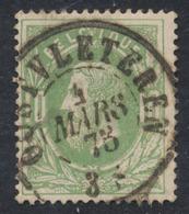 """émission 1869 - N°30 Obl Double Cercle """"Oostvleteren"""" (1873) / COBA : 15 - 1869-1883 Leopold II."""