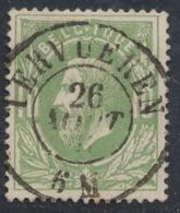 """émission 1869 - N°30 Obl Double Cercle """"Tervuren"""". Superbe Centrage / COBA : 15 - 1869-1883 Leopold II."""