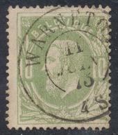 "émission 1869 - N°30 Obl Double Cercle ""Warneton"" - 1869-1883 Léopold II"