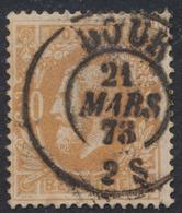 """émission 1869 - N°33 Obl Double Cercle """"Dour"""" (1873) - 1869-1883 Leopold II."""