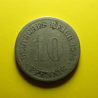 Germany 10 Pfennig 1874 H - [ 2] 1871-1918 : Duitse Rijk