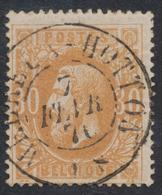"""émission 1869 - N°33 Obl Double Cercle """"Melreux-Hotton"""". TB / COBA : 15 - 1869-1883 Leopold II."""