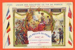 Nw386 Les POILUS Du FRONT Sont LA Union Sociétés TIR De FRANCE 1916 à Pascal MORUCCI Rue Melchion Marseille - Weltkrieg 1914-18