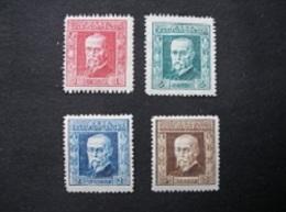1925 / 1926 - Président Masaryk - MH* - Tchécoslovaquie
