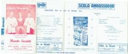 Publicité-Programme. Cinéma Eldorado/Acropole/Scala/Ambassador. 1957 - Bioscoopreclame