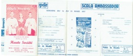 Publicité-Programme. Cinéma Eldorado/Acropole/Scala/Ambassador. 1957 - Werbetrailer