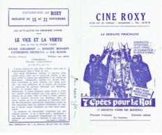Publicité-Programme. Cinéma  Ciné Roxy - Bioscoopreclame