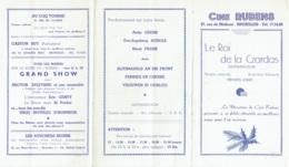 Publicité-Programme. Cinéma  Cine Rubens. - Werbetrailer