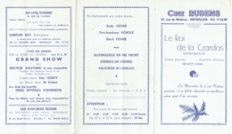 Publicité-Programme. Cinéma  Cine Rubens. - Bioscoopreclame