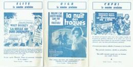 Publicité-Programme. Cinéma  L'Elite/Riga/Capri. 1960. - Bioscoopreclame