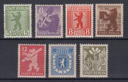 All. Besetzung Berlin + Brandenburg 1A-7A Berliner Bär Und Eiche Kompl. Satz ** - Soviet Zone