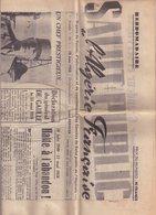 SALUT PUBLIC : DE L'ALGERIE FRANCAISE . 1re ANNEE . N° 1 . 18 JUIN 1958 .  GENERAL DE GAULLE . COMPLET . BON ETAT . PLIE - Journaux - Quotidiens