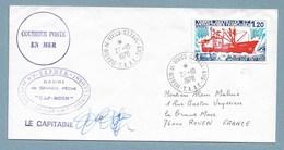 "8- TAAF PO66 Du 27.10.1978 St PAUL. Cachets Du "" CAP-HORN "" Signature Capitaine BARBARIN. - Storia Postale"