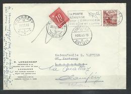 MZ-/-079. BELLE LETTRE TAXE En 1946,  VOIR IMAGE - Strafportzegels