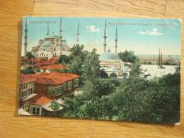 Cpa Constantinople Mosquée Du Sultan Ahmed Et L'Hippodrome. F.M 1922 - Turkey